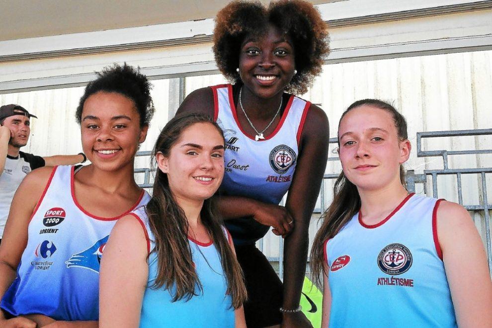 Angèle Ndiaye, Pauline Sager, Taïsha Cidoine et Saïa Sacquet-Lemasson.
